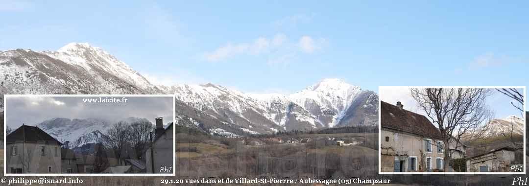 Villard-St-Pierre / Aubessagne (05) vallée du Champsaur 29.1.20 © PhI