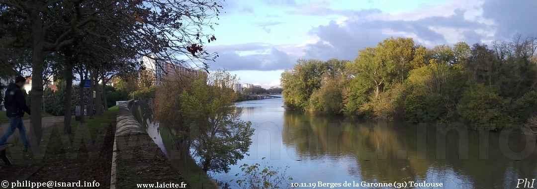 Berges de la Garonne (31) Toulouse 10.11.19 © PhI
