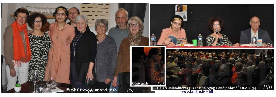 Conférence Olaic34.fr Fatiha Agag-Boudjahlat à (34) Colombiers 7.2.20 © PhI Laicite.fr