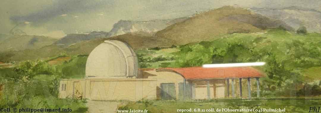 Puimichel (04) l'Observatoire 6.8.11 coll. PhI © Laicite.fr