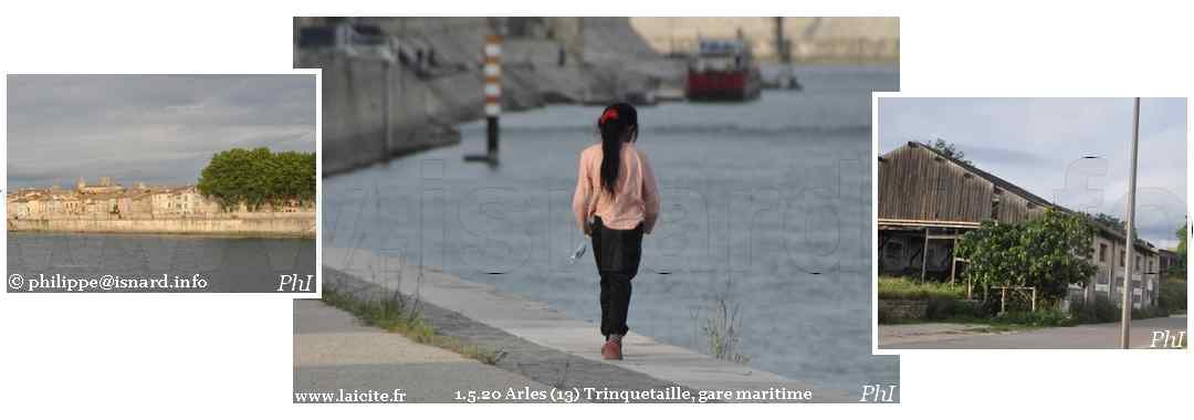 Arles (13) Trinquetaille, gare maritime 1.5.20 © PhI