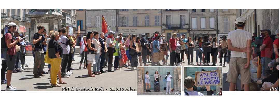 Arles (13) Contre le Racisme 21.6.20 PhI © Laicite.fr