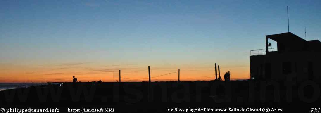 """plage la nuit"" Piémanson 22.8.20 Salin-de-Giraud (13) Arles © PhI"