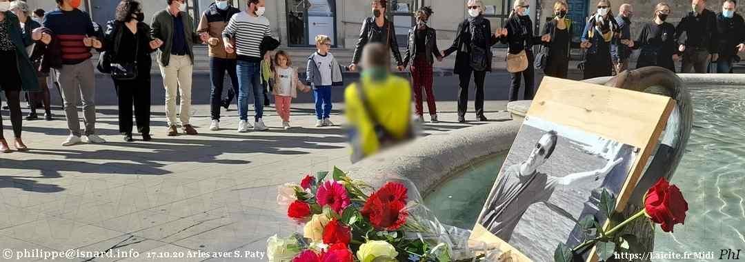 Arles 17.10.20 avec Samuel Paty Laicite.fr Midi © PhI