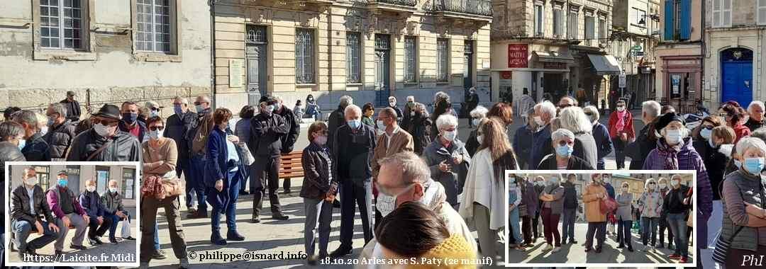 18.10.20 Arles 2e jour avec Samuel Paty. Laicitefr Midi © PhI