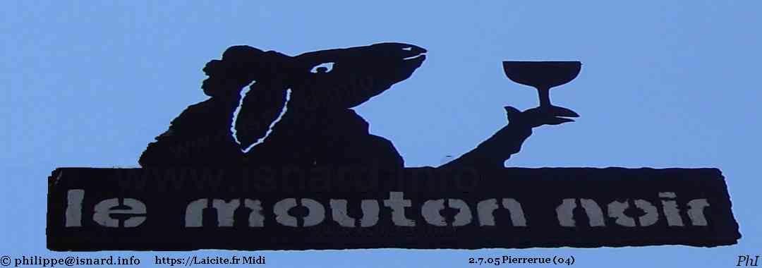 Mouton noir et ciel bleu (04) Pierrerue 2.7.05 © PhI