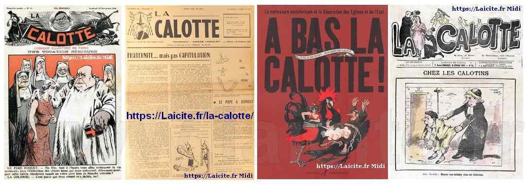 La Calotte, revue anticléricale, coll. Laicite.fr