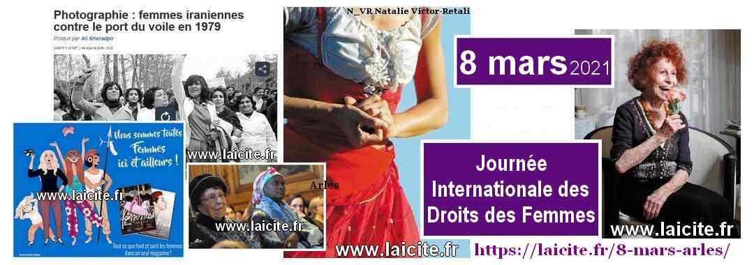 8 mars 2021 Journée Internationale des Droits des Femmes Arles