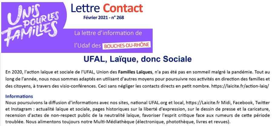 UFAL PACA-Ouest Activités 2019-2021, UDAF 13, 2.21