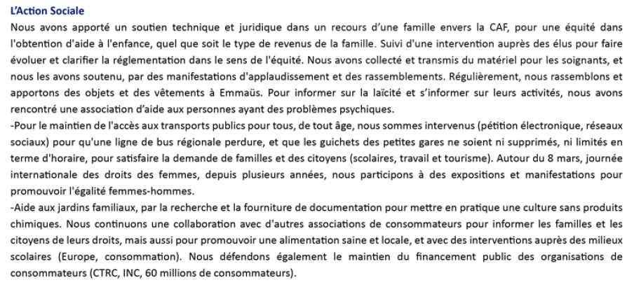UFAL PACA-Ouest Action Sociale 2019-2021, UDAF 13, mars '21