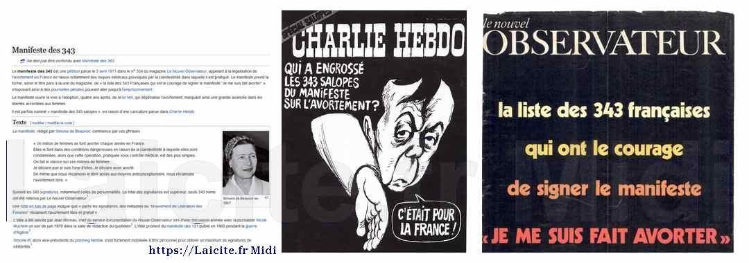 """IVG : Appel des 343 """"salopes"""" Nouvel Obs & Charlie Hebdo"""