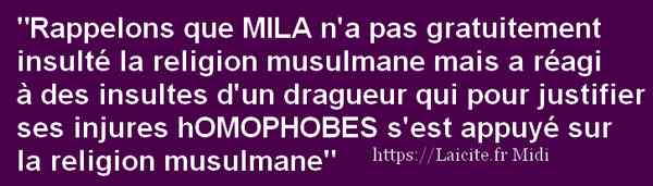 #JeSuisMila Liberté d'Expression ! 6.21 Laicite.fr Midi