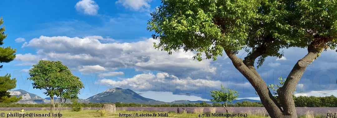 Eclaircie sur le plateau de Valensole 4.7.21 Montagnac (04) © PhI