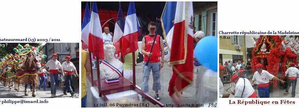 La République en Fêtes : charrette de Chateaurenard (13), défilé de Puyméras (84) © PhI