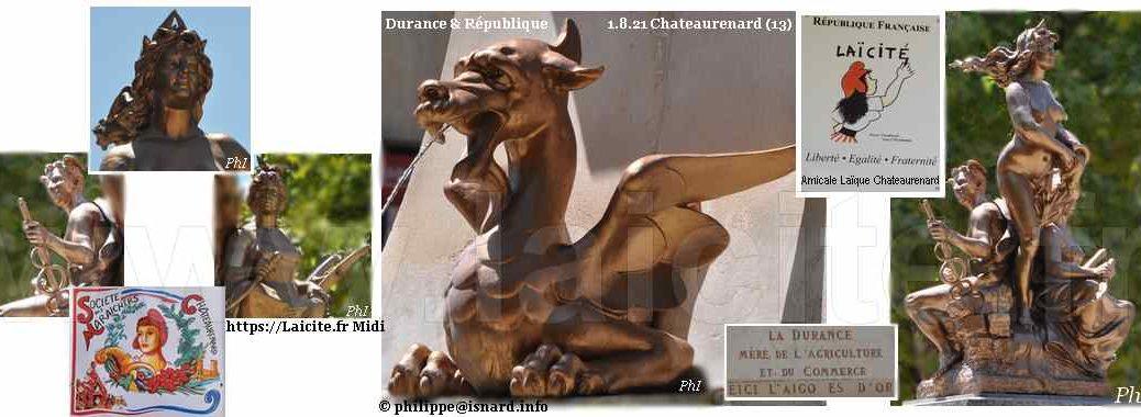 Chateaurenard (13) Durance & République 1.8.21 © PhI